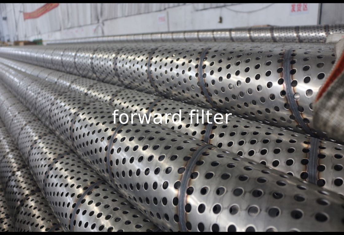 Spiral Welding Perforated Filter Tube Carbon Steel Industrial For Petrol Textile