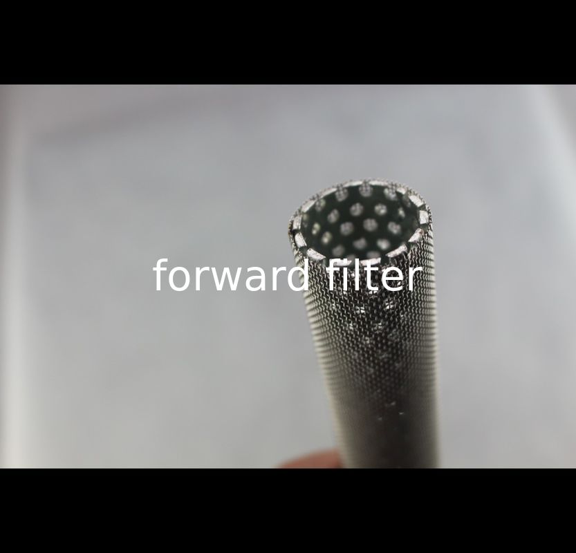 409 Perforated Stainless Baffle Tubing , Electro Polishing Perforated Metal Tube