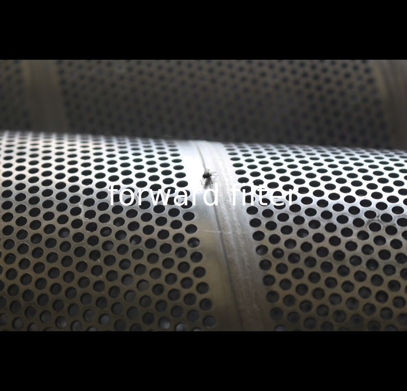 Round Perforated Metal Pipe , Spiral Perforated Tube Varnished With Subsequent Baking