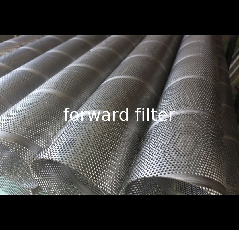 304L 316 Grades Perforated Muffler Tubing Powder Coating For Air Conditioner
