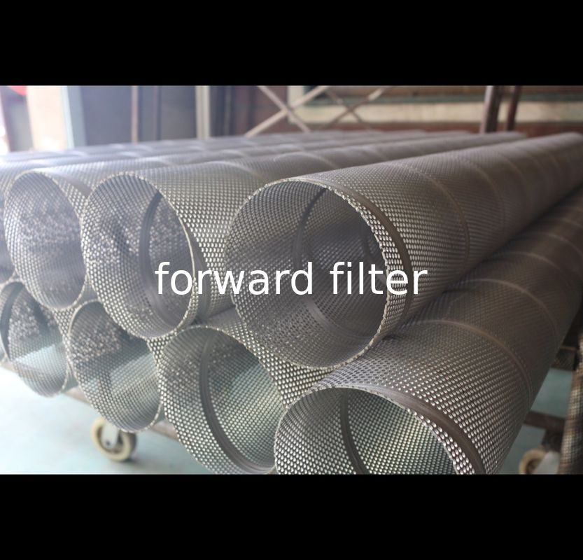 Petrol Textile Perforated Stainless Steel Tube Custom Length Straight Pattern