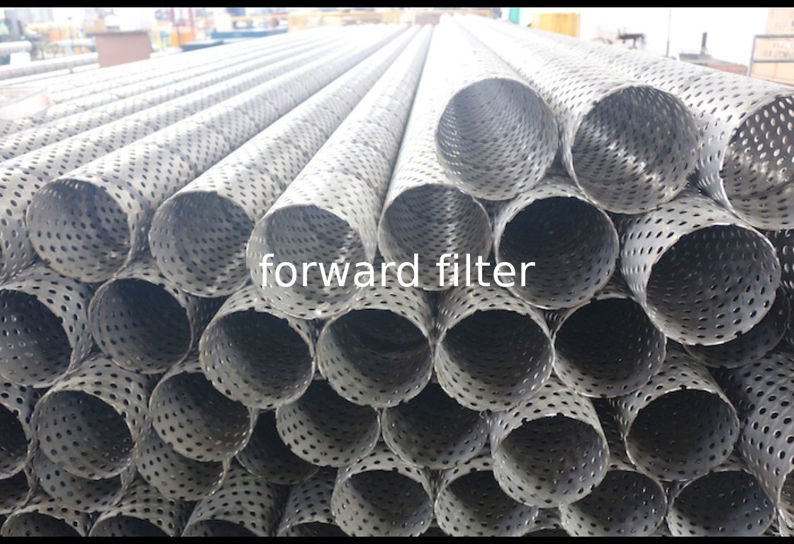 Petrol Textile Perforated Metal Tube , Galvanized Perforated Exhaust Tubing