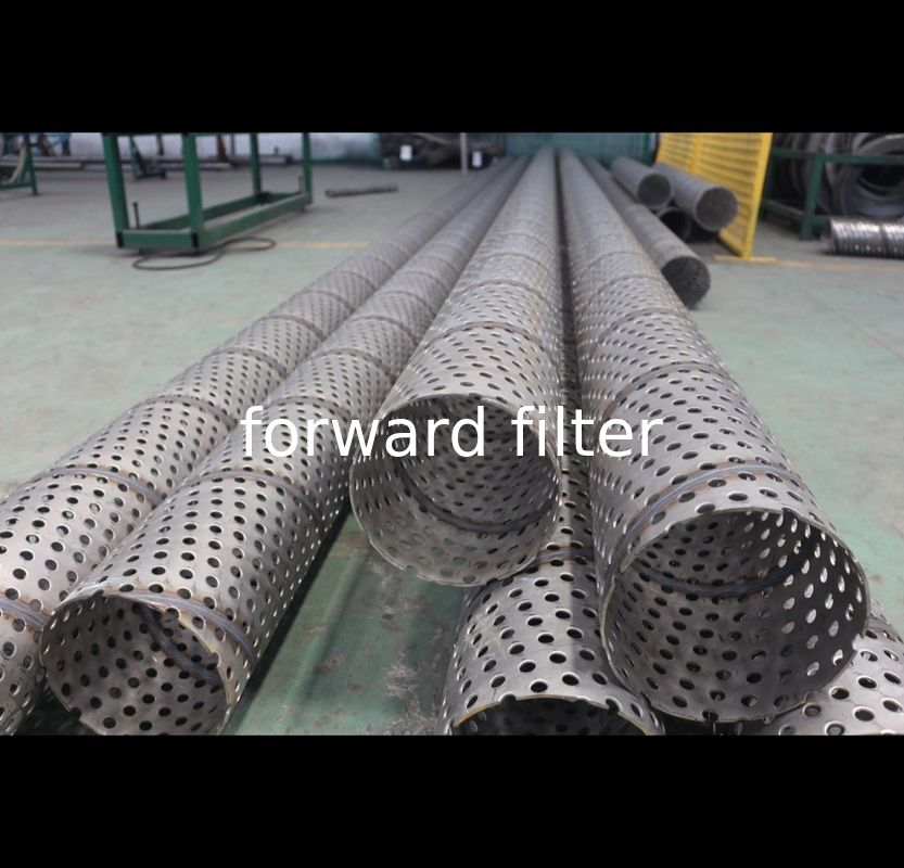 Three Meters Perforated Round Tubing Durable Optional 304 316 Alloy Seamless 30mm - 80mm