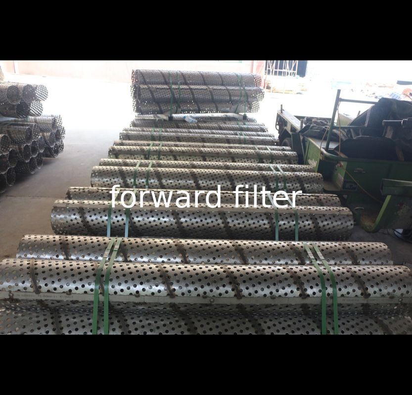 OEM Perforated Muffler Tubing , High Strength Structure Perforated Metal Cylinder